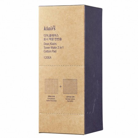 Klairs Toner Matte 2 in 1 Cotton Pad